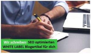 White label seo optimierter blogartikel