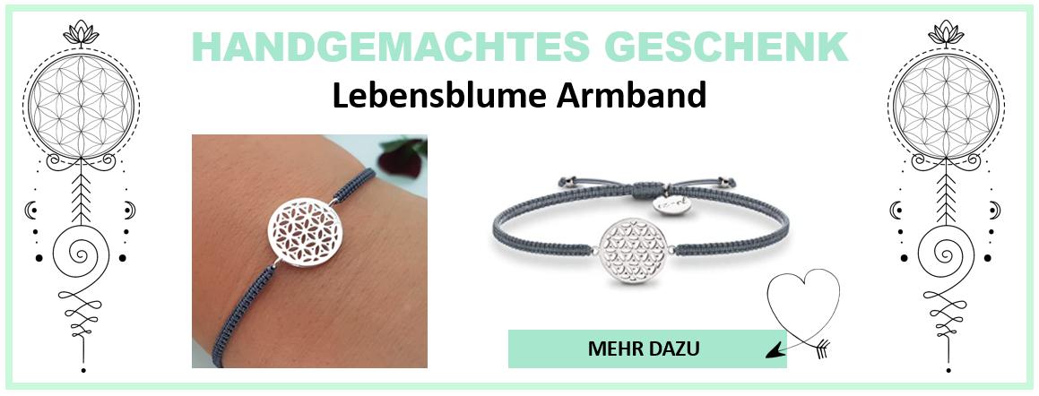 Handgemachtes Geschenk Lebensblume Armband
