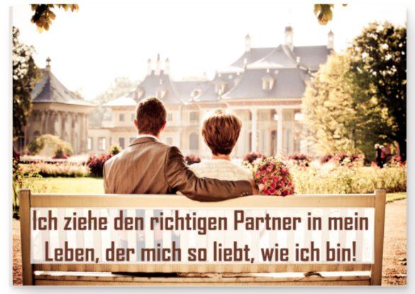 Affirmation, Seelenpartner anziehen - Poster