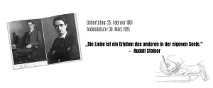 RUDOLF STEINER-publizist-gründer waldorfschule